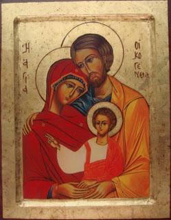 Icoana falsa din punct de vedere teologic: Dreptul Iosif nu este tatal lui Iisus, iar Maica Domnului este Fecioara