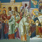 Predica Părintelui Sofian la Intrarea în Biserică a Maicii Domnului