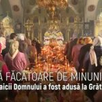 """Icoana Maicii Domnului """"Grabnic Ascultătoare"""" a fost adusă spre închinare la biserica""""Sfânta Treime""""din comunaGrătieşti"""