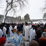 În ziua Praznicului Botezului Domnului, PS Siluan, Episcop de Orhei, a sâvârșit Sf. Liturghie și sfințirea cea mare a apei la mănăstirea Curchi