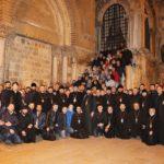 Liturghie în miez de noapte la biserica Învierii Domnului din Ierusalim