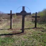 Reinstalarea Răstignirilor vechiului cimitir din s. Soltănești, r-nul. Nisporeni