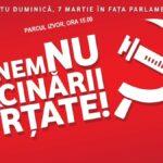 Protest național împotriva legii vaccinării obligatorii, pe 7 martie, București